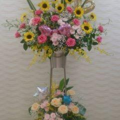 バルーン入りスタンド花